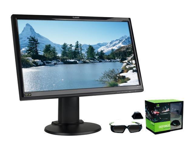 """PLANAR SA2311W (997-6293-00lf) Black 23"""" 2ms Widescreen 3D Vision Ready LCD Monitor + NVIDIA 3D Vision Kit Bundle"""