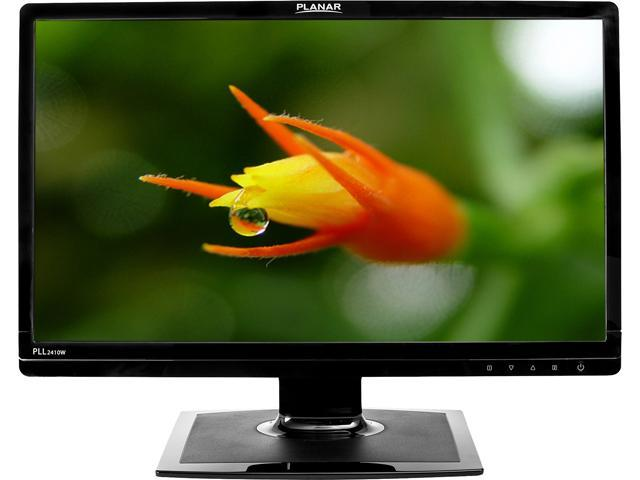 "PLANAR 997-6871-00 PLL2410W Black 24"" 5ms Widescreen LED Backlight LCD Monitor"