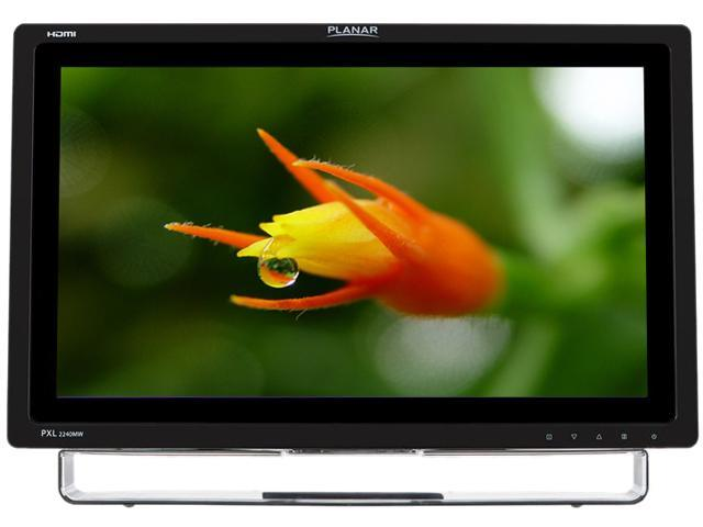 """PLANAR PXL2240MW Black 22"""" USB Optical Touchscreen Monitor Multi-Touch Built-in Speakers"""