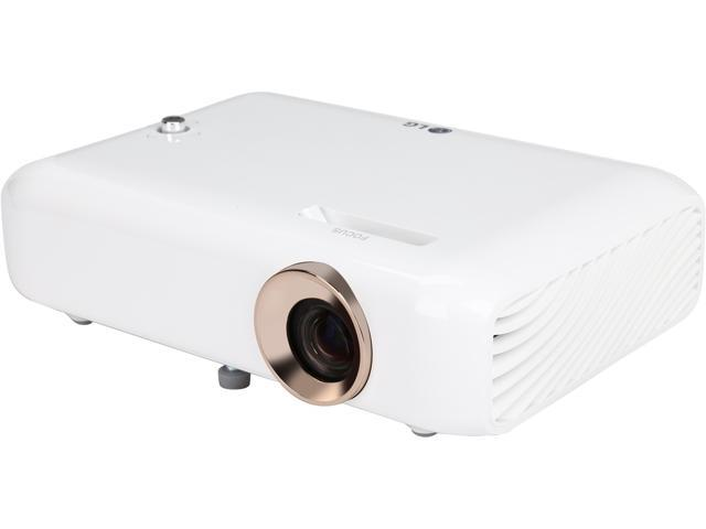 LG PH550 Minibeam LED Projector with Built-in Battery and Screen Share 1280 x 720 up to 550 lumen DLP 100,000:1 Bluetooth (with Speaker) MHL