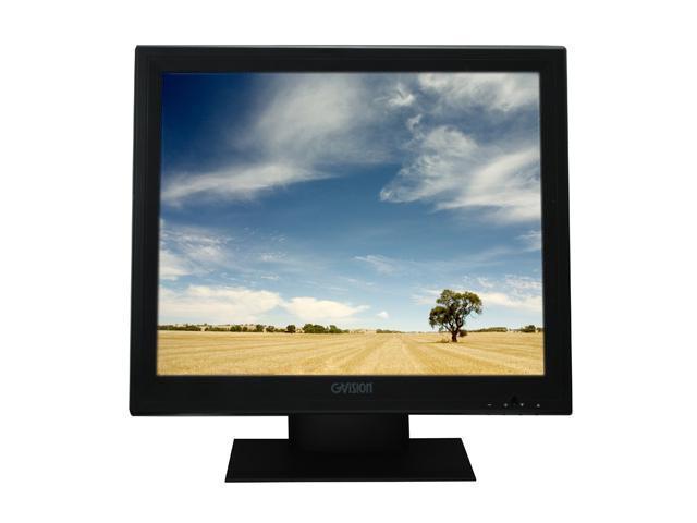 "GVISION P19BH-AE-459G Black 19"" Serial/USB Touchscreen LCD Monitor 250 cd/m2 800:1"