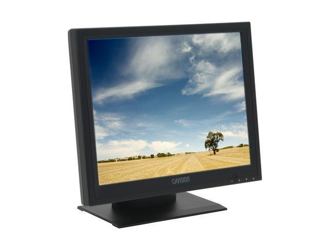"GVISION P15BX-AB-459G Black 15"" Serial/USB 5 wire resistive LCD Touchscreen Monitor w/ Tilt Adjustments 250 cd/m2 700:1 Built in Speakers 0.297mm Pixel Pitch"
