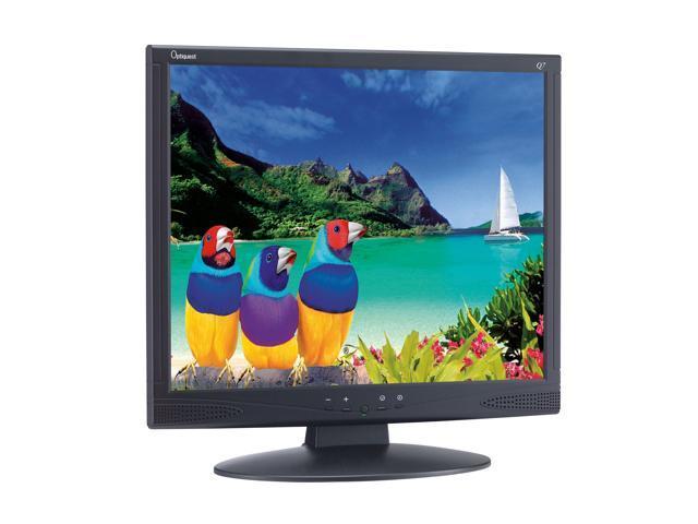 "ViewSonic Optiquest Series Q7B-3 Black 17"" 8ms LCD Monitor 280 cd/m2 600:1 Built-in Speakers"