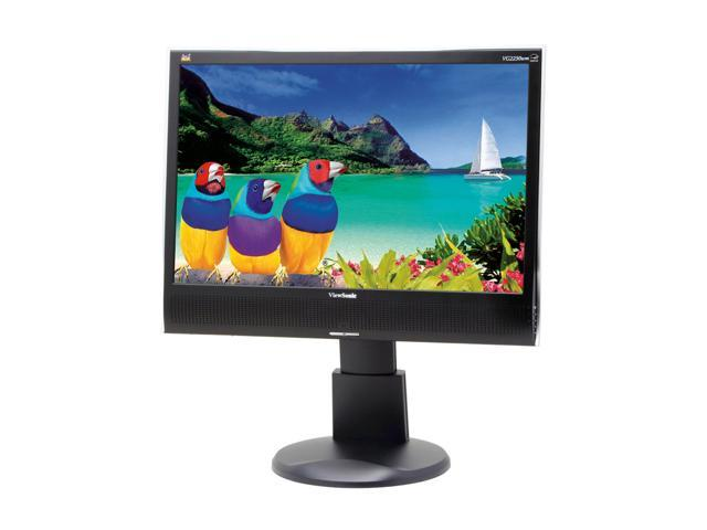 "ViewSonic Graphic Series VG2230wm Black 22"" 5ms DVI Widescreen LCD Monitor Height & Tilt Adjustments 280 cd/m2 700:1 Built in Speakers"