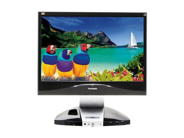"ViewSonic X Series VX1945wm Black-Silver 19"" 5ms DVI Widescreen LCD Monitor 300 cd/m2 700:1 Built in Speakers"