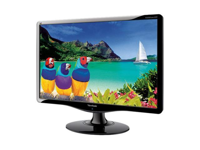 """ViewSonic VA1931wm-LED Black 19"""" Class (18.5"""" Viewable) 5ms LED-Backlit LCD Monitor Built-in Speakers"""