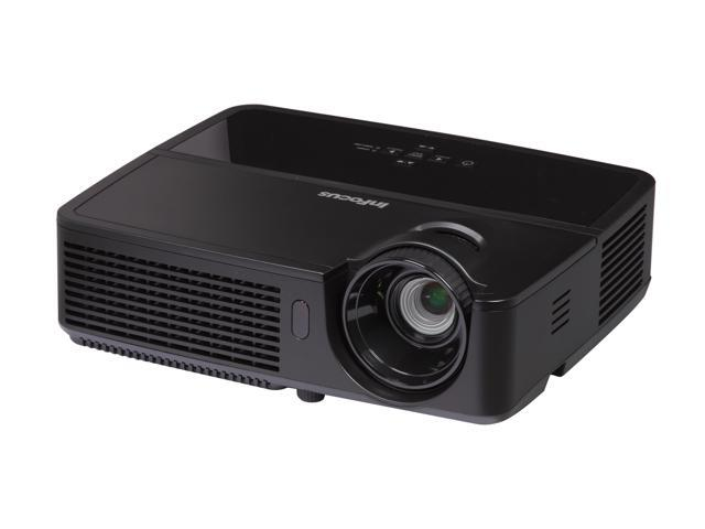 InFocus IN116 WXGA 1280 x 800, 2700 Lumens, Slim Design & Lightweight, HDMI Input, BrilliantColor Tech, 3D Ready DLP Projector