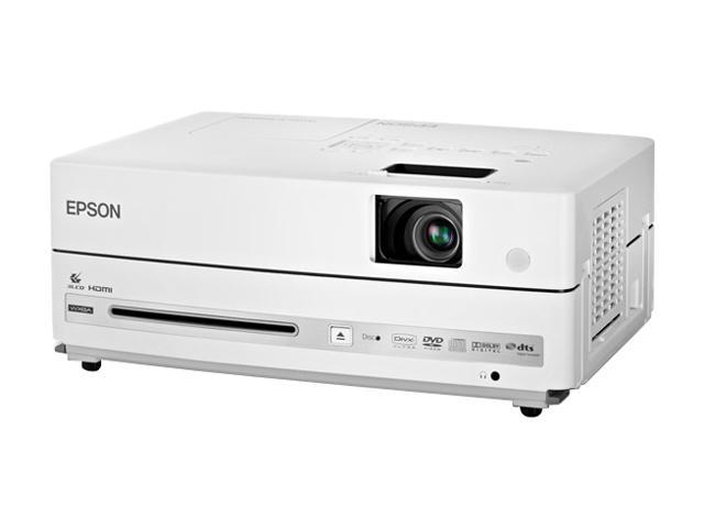 EPSON V11H335120-F 1280 x 800 2500 lumens 3LCD PowerLite Presenter Projector/DVD Player Combo