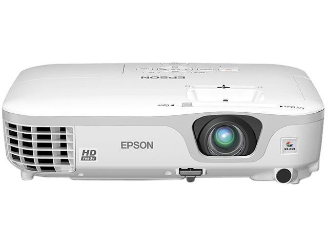 EPSON FACTORY RECERTIFIED POWERLITE HOME CINEMA 707 N:720P-HD 2700-LUMENS 3000:1-CONTRAST 3LCD PROJECTOR 5.1LBS 90DAY