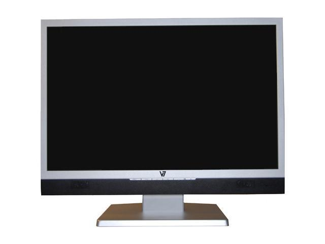 "V7 R22W02 Silver-Black 22"" 5ms Widescreen LCD Monitor 280 cd/m2 700:1 Built-in Speakers"