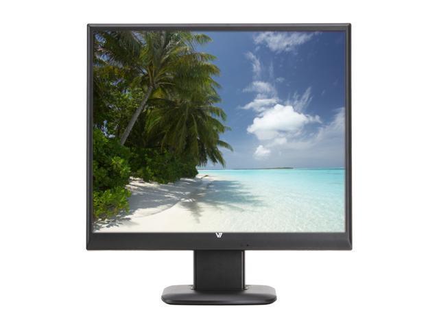 "V7 D1912-N6 Black 19"" 5ms LCD Monitor Built-in Speakers"