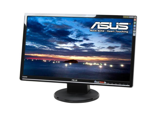 ASUS VW246H Glossy Black 24 inch 2ms(GTG) HDMI Widescreen LCD Monitor 300 cd/m2 ASCR 20000:1 (1000:1) Built-in Speakers