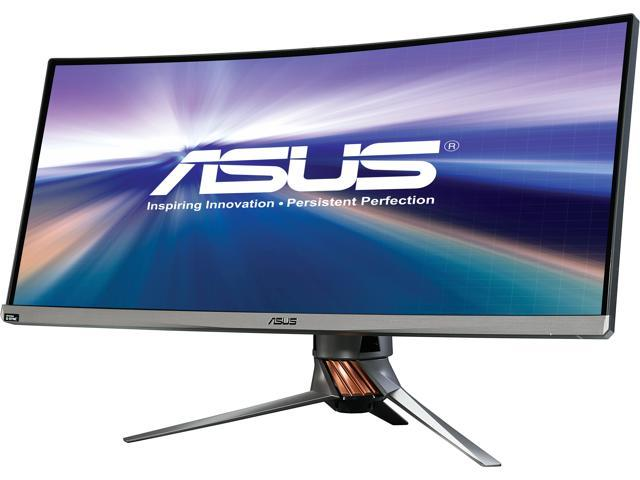 1199.99 - Asus ROG PG348Q Black 34 3440 x 1440 100 Hz Curved IPS G-Sync 21:9 WQHD Gaming Monitor with Speakers Height and Swift Adjustable