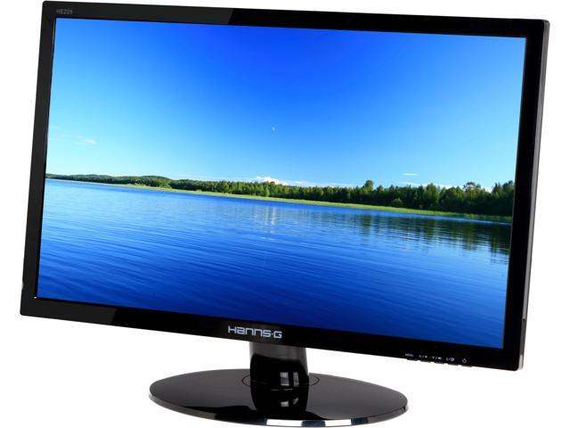 "Hanns-G HE225DPB Black 21.5"" 5ms Widescreen LED Backlight LCD Monitor Built-in Speakers"
