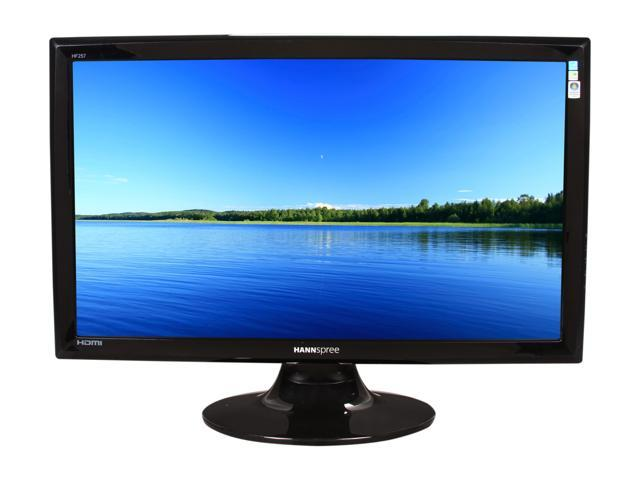 "HANNspree HF257HPB Black 24.6"" 2ms GTG HDMI Widescreen LCD Monitor 300 cd/m2 Dynamic X-contrast 15,000:1 (800:1) Built-in Speakers"