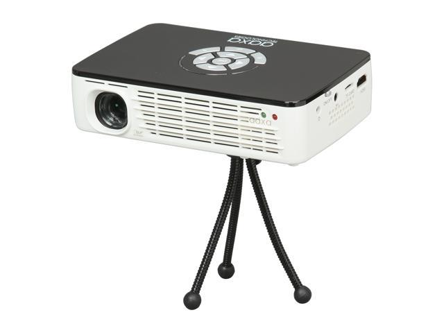 AAXA P300 White/Black LED Portable Projector, 1280 x 800, 2000:1, 400 ANSI Lumens, HDMI&VGA, Built-in Speaker