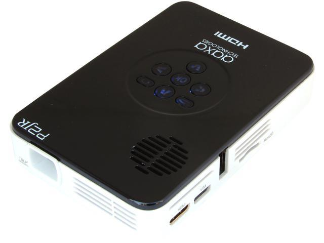 AAXA P2 Jr Pico Projector with 90 Minutes Battery Life, mini-HDMI, mini-VGA, 20,000 hour LED life, and media player