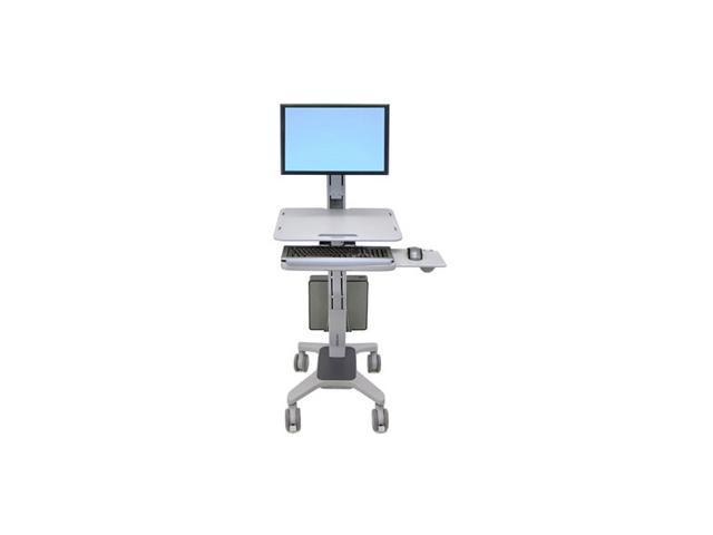Ergotron 24-198-055 WorkFit C-Mod, Single Display Sit-Stand Workstation