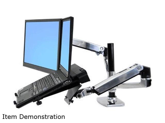 Ergotron 45-248-026 LX Dual Stacking Arm, Mounting Kit, Extends LCDs or laptop up to 25