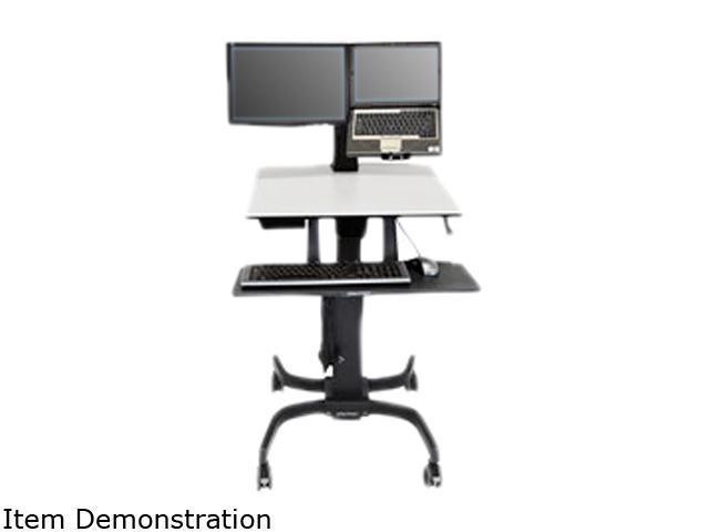 Ergotron 24-213-085 WorkFit-C, LCD & Laptop Sit-Stand Workstation