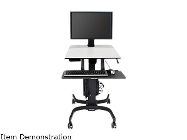 Ergotron 24-216-085 WorkFit-C Single HD Sit-Stand Workstation - cart