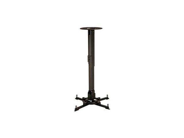 Peerless Industries, Inc. PPB Universal Ceiling Projector Mount with Adjustable Extension - Black