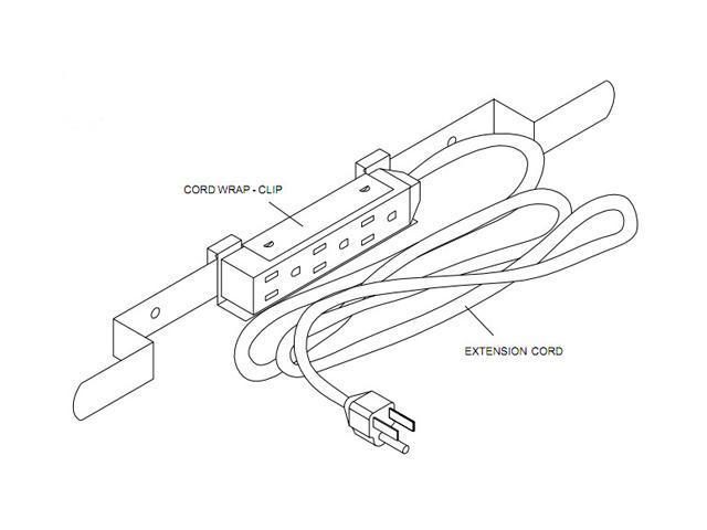 Peerless-AV ACC320 Electrical outlet strip with cord wrap