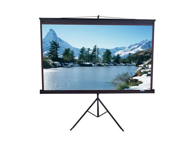"Elitescreens 99"" Standard(1:1) Tripod Portable Tripod Manual Pull Up Projection Screen (99"" 1:1 AR) (MaxWhite) T99UWS1"
