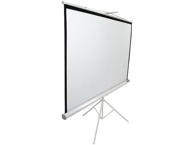 "Elitescreens 119"" Standard(1:1) Portable Tripod Portable Tripod Manual Pull Up Projection Screen (119"" 1:1 AR) (MaxWhite) ..."