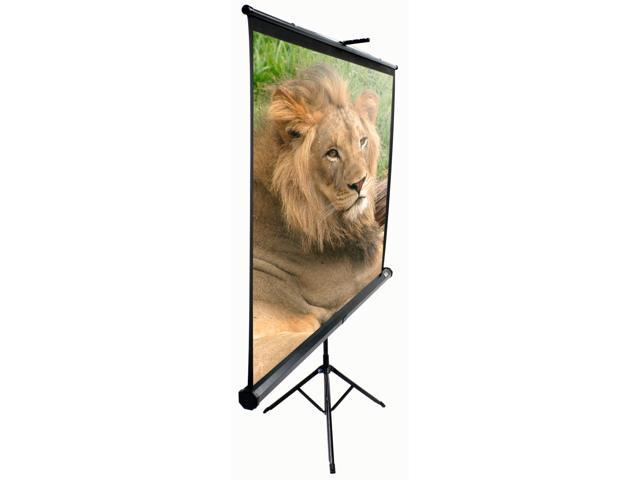 "Elitescreens Tripod Portable Tripod Manual Pull Up Projection Screen (92"" 16:9 AR) (MaxWhite) T92UWH"