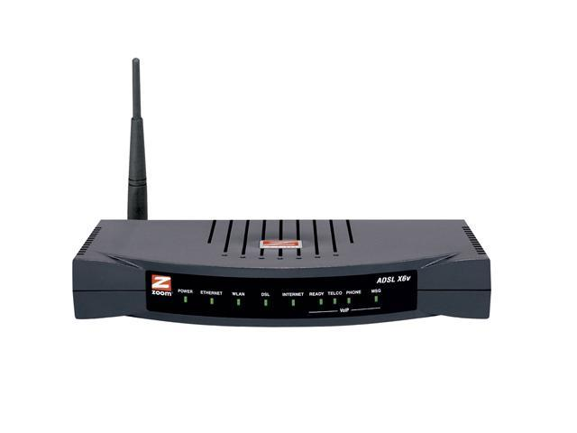 Zoom 5695-00-00F ADSL 2/2+ Modem/Wireless Router/Firewall/4-port Switch plus VoIP Adapter 24Mbps Downstream, 1Mbps Upstream