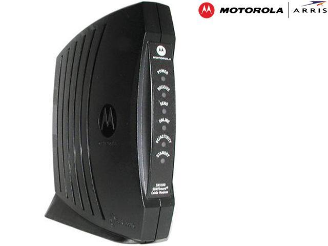 motorola surfboard. motorola sb5100 surfboard cable modem downstream: data rate: 38 mbps symbol 64 motorola