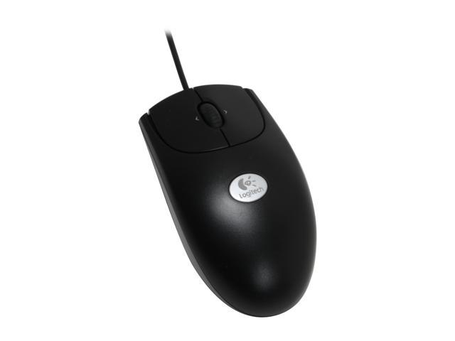 Logitech RX250 Black 3 Buttons Tilt Wheel USB or PS/2 Wired Optical Mouse