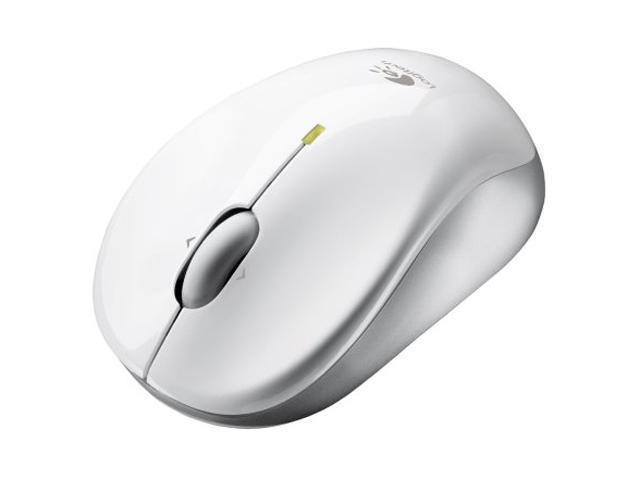 Logitech V470 White 3 Buttons Tilt Wheel Bluetooth Wireless Laser Mouse for Notebook