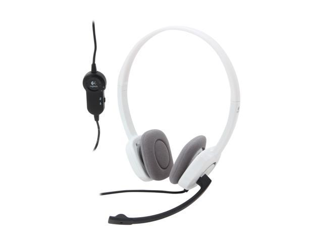 Logitech H150 3.5mm Connector Supra-aural Stereo Headset - White