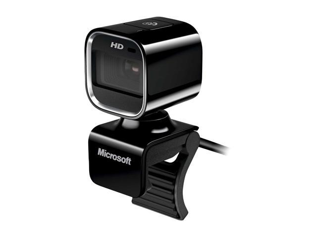 Microsoft 7PD-00001 LifeCam HD-6000 for Notebooks WebCam- Coal Black