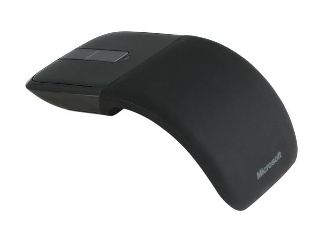 Microsoft Arc Touch Mouse RVF-00001 Black 2 Buttons Touch Scroll USB RF Wireless BlueTrack Mouse