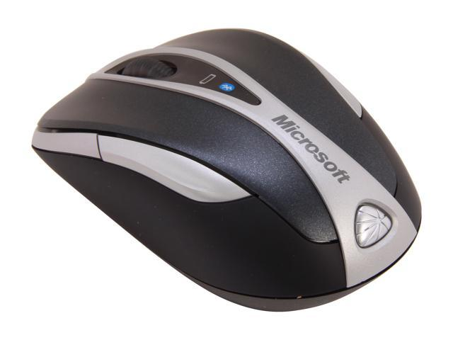 Microsoft L2 Notebook Mouse 5000 69R-00025 Black/Grey 4 Buttons 1 x Wheel Bluetooth Wireless Laser Mouse