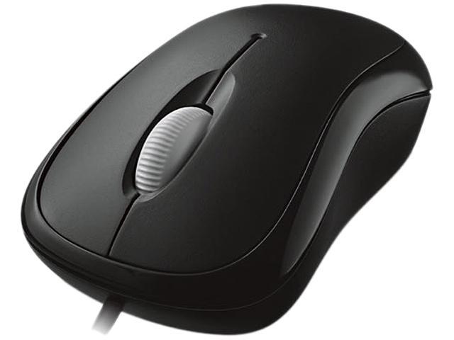 Microsoft Basic Optical Mouse P58-00063 Black 3 Buttons 1 x Wheel USB Wired Optical Mouse