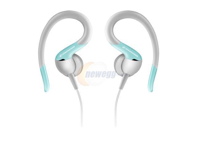 Sennheiser OMX 80 Blue 3.5mm Connector Earbud Sport Ear-Clip Headphone