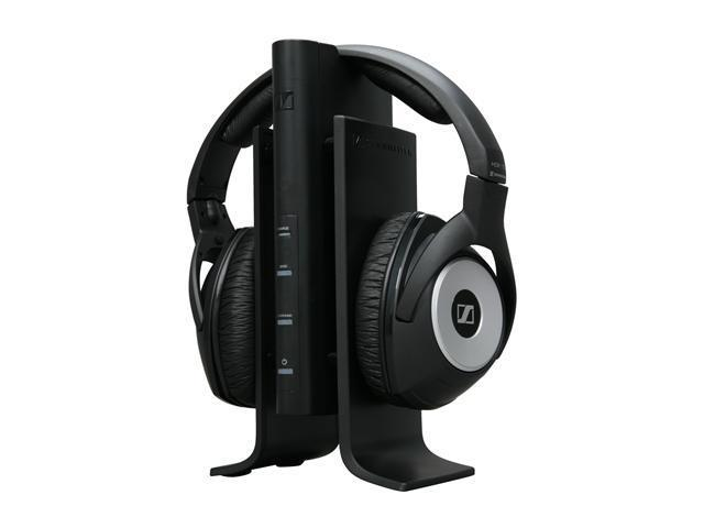 Sennheiser Black RS 170 Circumaural Wireless Stereo Surround Sound Headphones w/ transmitter