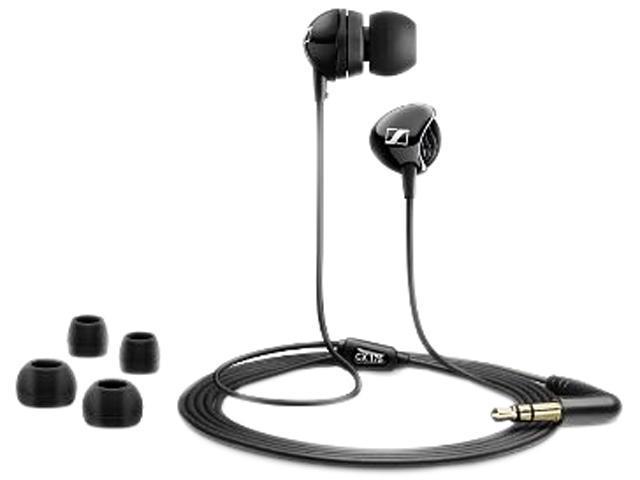 Sennheiser Black CX175 3.5mm Connector Intraaural In-Ear Headphones