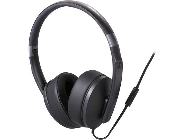sennheiser hd around ear headset black. Black Bedroom Furniture Sets. Home Design Ideas