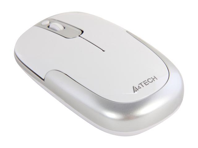 A4Tech G9-110H-2 White 4 Buttons 1 x Wheel USB RF Wireless Optical PPO Zero Delay Mouse