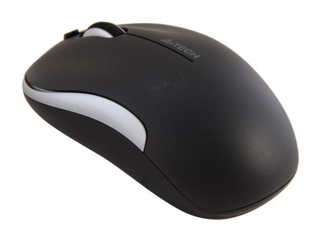 A4Tech G9-330H-2 Black / Silver 4 Buttons 1 x Wheel USB RF Wireless Optical PPO Zero Delay Mouse