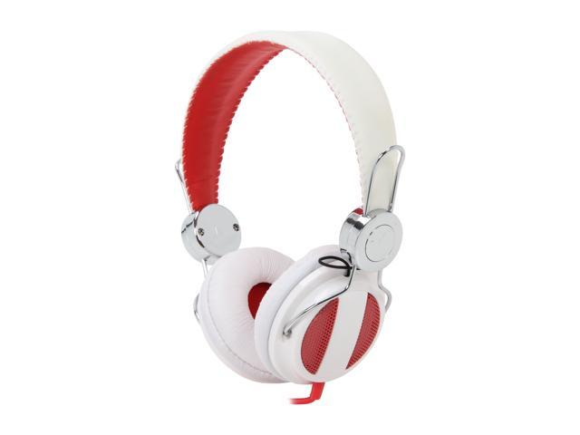 RCA Ampz White/Red HP5041 On Ear Full-Size Headphone
