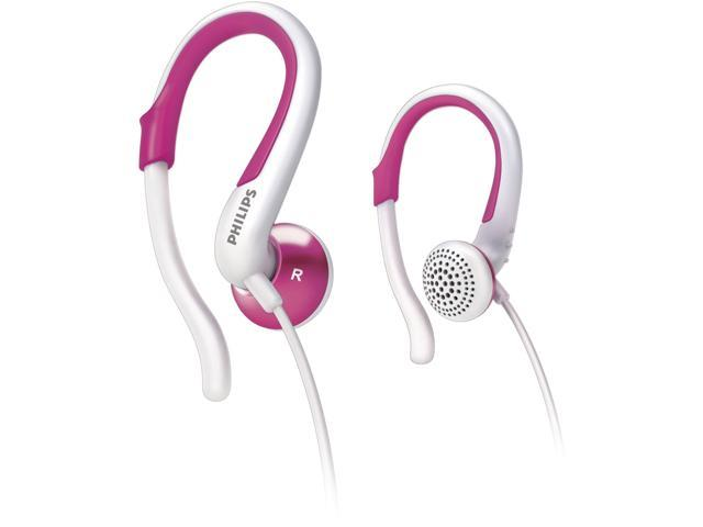 PHILIPS SHS4848/28 Earbud Adjustable Earhook Earphone,White and Pink