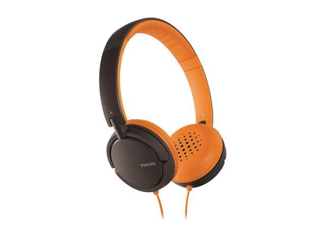 PHILIPS SHL5001/28 Supra-aural Headband Headphone,Orange and Brown
