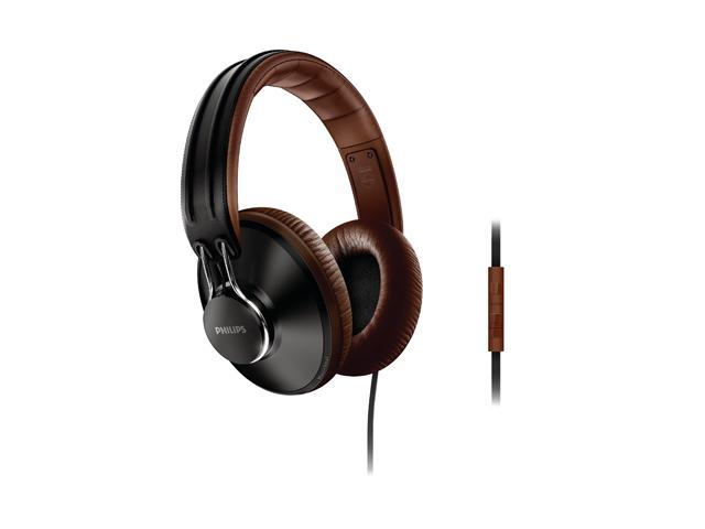 PHILIPS CitiScape Updown Black/Brown SHL5905BK/28 Circumaural Handband Headphone (Black/Brown)