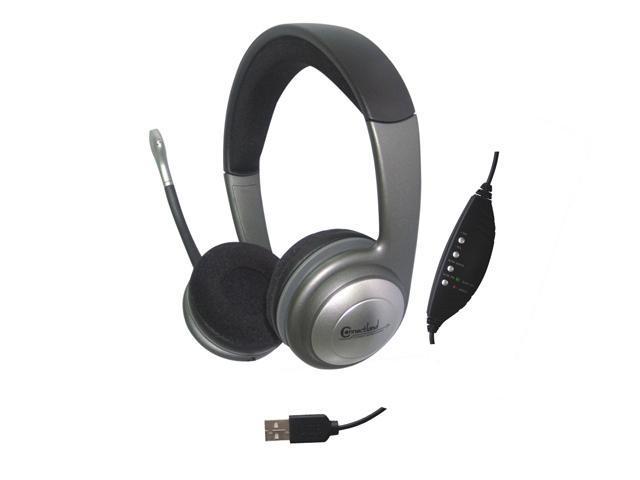 Connectland CM-5008-U USB Connector Circumaural Ear Hook Stereo Headset
